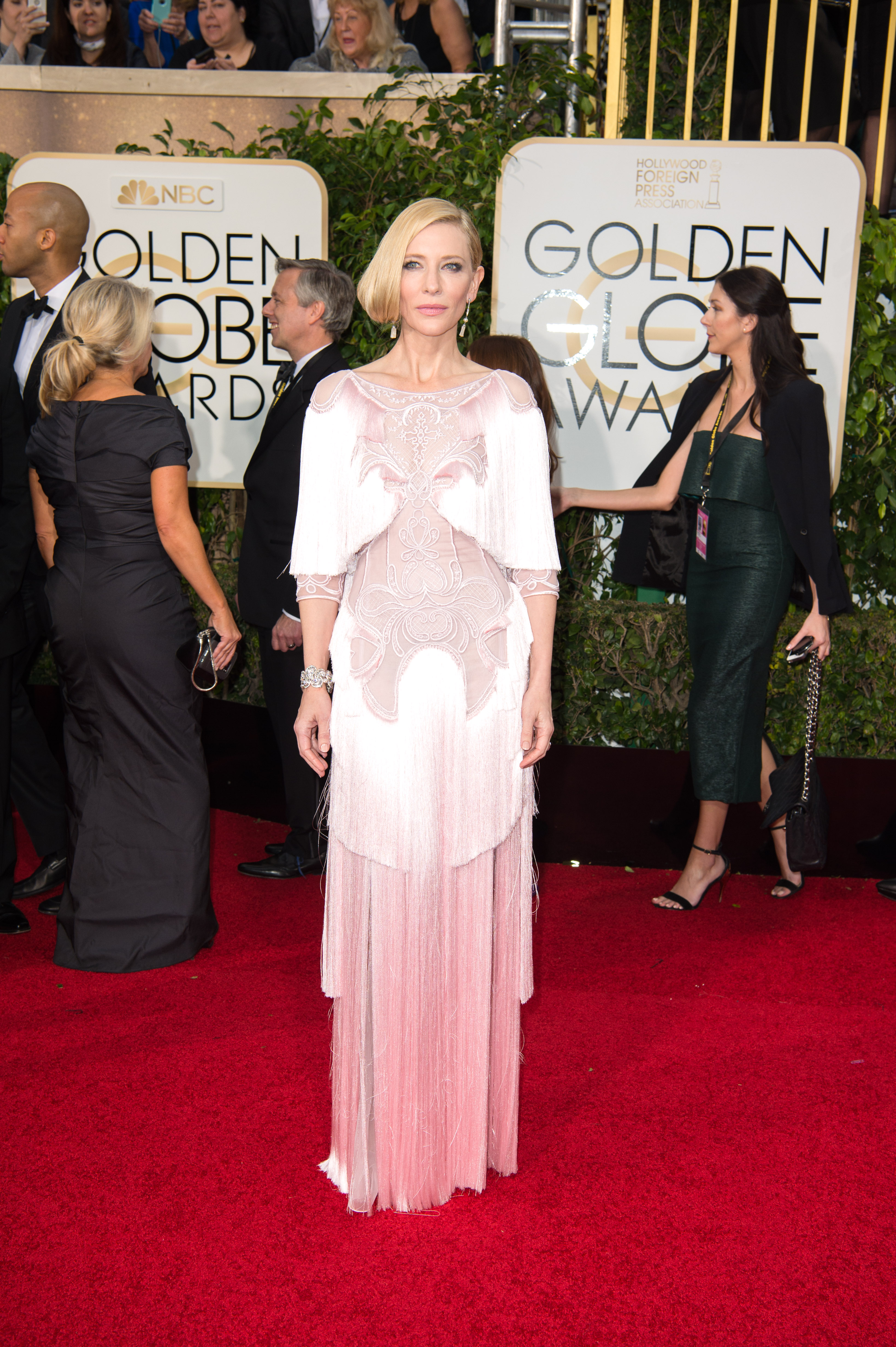 """Cate Blanchett, Golden Globe Nominee for BEST PERFORMANCE BY AN ACTRESS IN A MOTION PICTURE - DRAMA for """"Carol"""", arrives at the 73rd Annual Golden Globe Awards at the Beverly Hilton in Beverly Hills, CA on Sunday, January 10, 2016."""