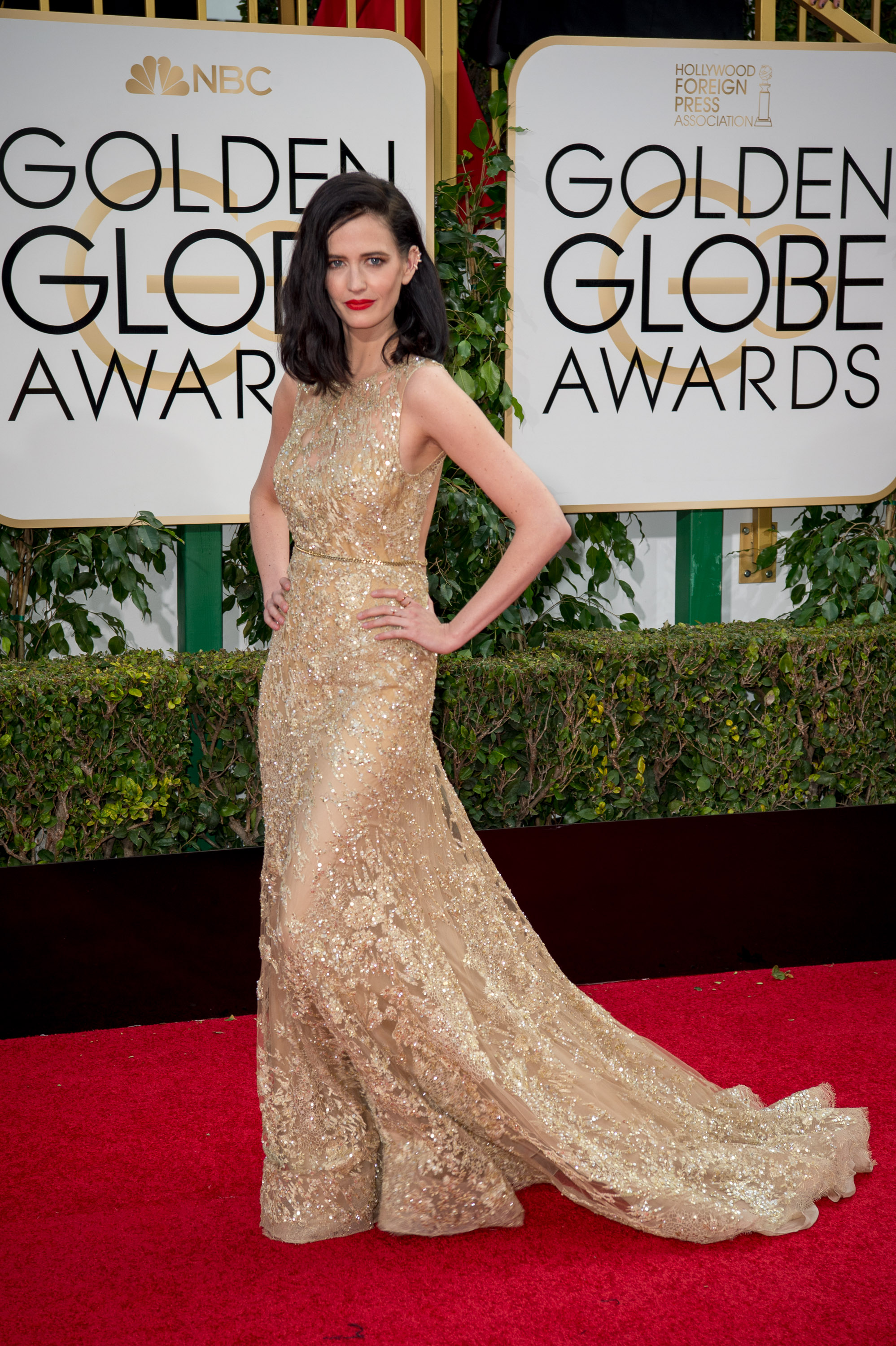 Eva Green attends the 73rd Annual Golden Globes Awards at the Beverly Hilton in Beverly Hills, CA on Sunday, January 10, 2016.