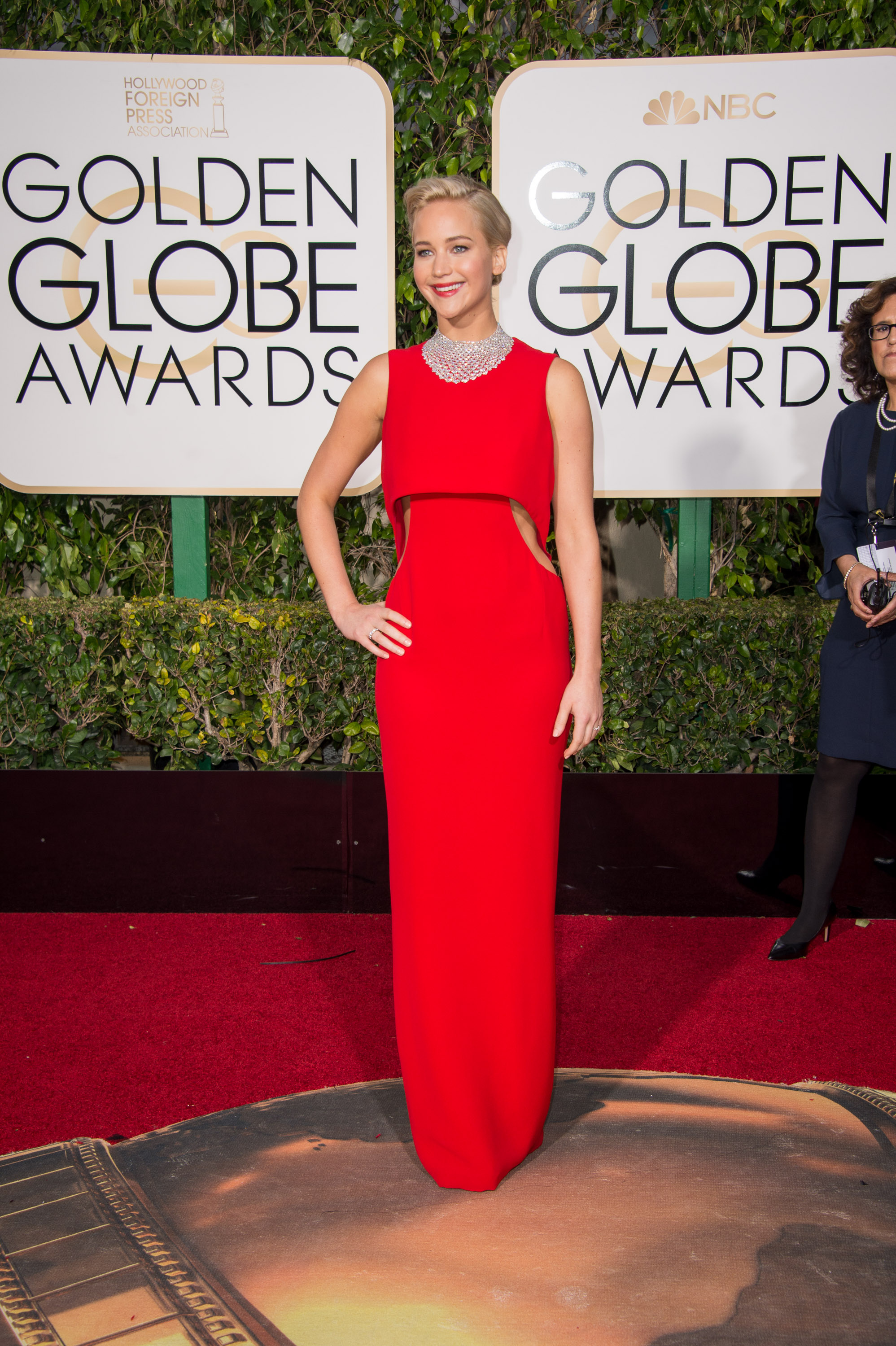 """Nominated for BEST PERFORMANCE BY AN ACTRESS IN A MOTION PICTURE – COMEDY OR MUSICAL for her role in """"Joy,"""" actress Jennifer Lawrence attends the 73rd Annual Golden Globes Awards at the Beverly Hilton in Beverly Hills, CA on Sunday, January 10, 2016."""